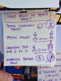 Encouraging the growth mindset - a good visual to show students how trying something hard can help your brain!