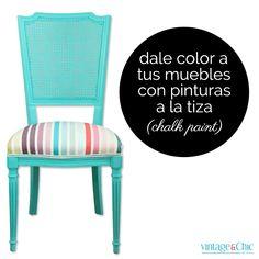 Cómo dar un acabado dorado a tus muebles · DIY: Gilding your furniture - Vintage & Chic.