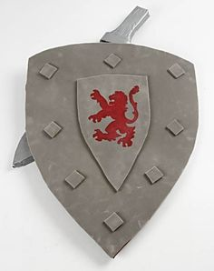 """printmaking project... use a """"shield"""" as the background, and design a printing plate to stamp your coat of arms on it."""