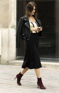 Giorgia Street Style In Biker Jacket