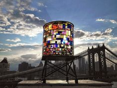 diane likes art — Watertower - Tom Fruin