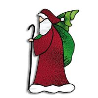 Free Pattern, Old World Santa Stained Glass