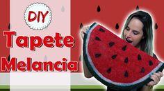 DIY: Tapete Melancia - Lindo e Divertido por Coisas de Jessika Watermelon Crafts, Diy Crafts, Youtube, Ideas, Crochet Carpet, Oval Rugs, The Creation, Rugs, Hilarious