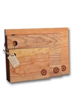 Richwood Creations Monogrammed Cherrywood Cutting Boards (Set Of 3)