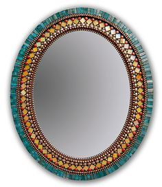 """Butterfly Mirror"" Mosaic Mirror Created by Angie Heinrich Rich teal Italian… Mirror Mosaic, Mosaic Diy, Mosaic Crafts, Mosaic Ideas, Mosaic Wall Art, Mirror Mirror, Round Mirrors, Mosaic Designs, Ideas"