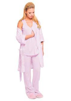 The Olian Cotton Nursing 4pc. Pajama Set