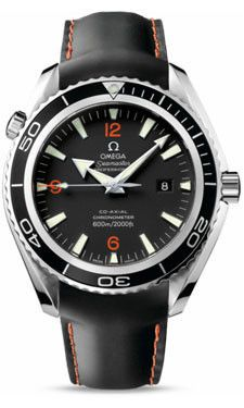 Omega Seamaster Planet Ocean 600 M Co-Axial 45.5 mm SS Leather Strap