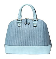 Lara Woven Dome Satchel in Ice Blue from Elise Hope