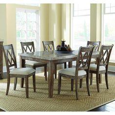 7-Piece Dining Set in Ash and Gray | Nebraska Furniture Mart