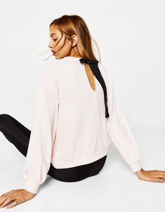 a94b3a9674 Sweatshirts & Hoodies - CLOTHING - WOMAN - Bershka United Arab Emirates  Open Back Sweatshirt,