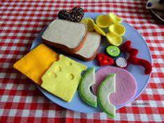 Felt Food Play Food Sandwich Kids Toys Play Kitchen by decocarin
