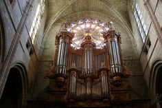 Organ in the cathedral at Beziers