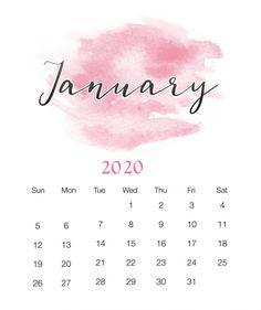 Watercolor 2019 January Printable Calendar on Free Printable Ideas 9107 Cute Calendar, Print Calendar, Calendar 2020, January Wallpaper, Calendar Wallpaper, Free Printable Calendar Templates, Blank Calendar Template, January Month, Kalender Design