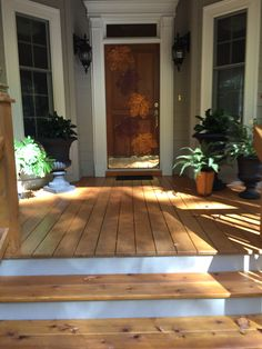 Leaf placemats became front door decor