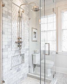 29 Popular Bathroom Shower Tile Design Ideas And Makeover. If you are looking for Bathroom Shower Tile Design Ideas And Makeover, You come to the right place. Here are the Bathroom Shower Tile Design. White Bathroom Tiles, Bathroom Tile Designs, Simple Bathroom, Bathroom Mirrors, Marble Bathrooms, Master Bathrooms, Dyi Bathroom, Narrow Bathroom, Small Master Bathroom Ideas