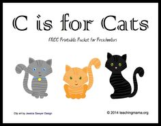 C is for Cats -- Letter C Printables