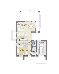 Marika House Outer Design, Minimal House Design, Sims House Design, House Front Design, Modern Barn House, Modern House Facades, Modern House Plans, Small House Plans, Duplex House Plans