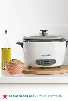 Creating a wedding registry? Don't forget to register for all those cool kitchen electrics like a Black & Decker rice maker, waffle iron, spiralizer, smart vacuum and more! Head to macys.com now to add them all to your list.