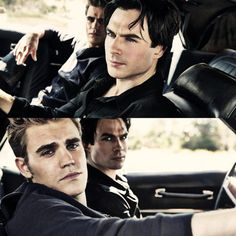 The Vampire Diaries' Ian Somerhalder and Paul Wesley----if this doesn't convince you to watch the show then I don't know what will