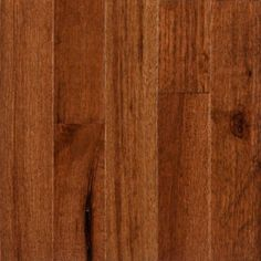 """this is a prefinished hardwood. the color looks so much like the floors in Dad's house- beautiful. they say it is approprata for kitchen, but don't know about scratches from nails or accidents. want to get a sample for this and then look if I can find a ergo the same color and finish, price each and compare 3/4"""" x 2-1/4"""" Walnut Hickory"""