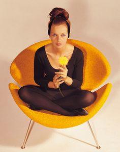 ◈ Pierre Paulin Orange Slice Chair 1960