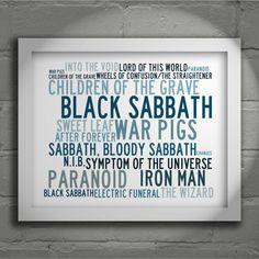 Kristalline BLACK SABBATH Typografie von LissomeArtStudio auf Etsy