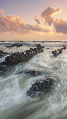 Sea Ocean Water Sunset Nature #iPhone #6 #plus #wallpaper