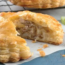 Sausage, Apple, and Cheddar Pocket Pies: King Arthur Flour Use 1/2 cup diced sweet onion.
