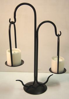 Iron Design – Wrought Iron Candelabra.  Hanging Candle Holder.