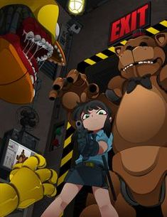 Original Teen Titans, William Afton, Pixel Animation, Ppg And Rrb, Freddy 's, Fnaf Characters, Cartoon Crossovers, Sister Location, Five Nights At Freddy's