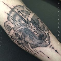 Bear tattoo by Philip Milic