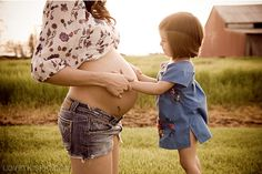 Kid touching belly maternity pregnancy photos. I'm so ready to be a mommy!!