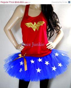 Memorial Day Savings Wonder Woman Set Availble in Tank or Tshirt style