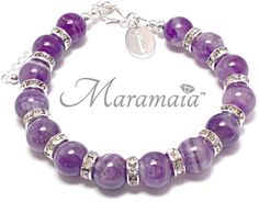 Water Element Sage Amethyst Sterling Silver Bracelet for * Protection * Emotional Balance and * Spiritual Awareness.