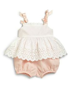 Ralph Lauren Infant's Two-Piece Eyelet Sundress & Bloomers Set Baby Girl Dresses, Baby Dress, Girl Outfits, Cute Outfits, Dress Girl, Baby Girl Fashion, Kids Fashion, Pastel Outfit, Baby Kids Clothes