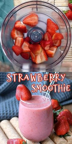 Healthy Fruit Smoothies, Smoothie Recipes For Kids, Breakfast Smoothie Recipes, Smoothies With Strawberries, Lactose Free Smoothie Recipes, Healthy Strawberry Banana Smoothie, Protein Fruit Smoothie, 4 Ingredients, Maple Syrup