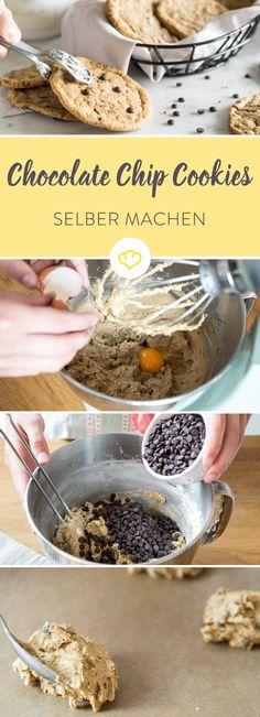 Richtig gute Cookies sind 'chewy', innen weich und außen knusprig. Eben so wie es das amerikanische Original verlangt. (Muffin Schokolade)