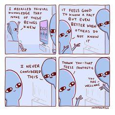 Ti seeking ego masturbation be like. Cute Memes, Funny Cute, The Funny, Funny Jokes, Cute Comics, Funny Comics, Planet Comics, Cute Alien, Aliens Funny