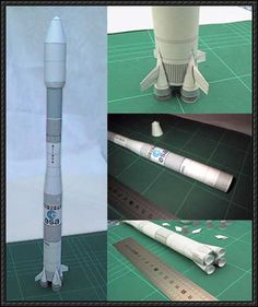 Ariane 4 Rocket Paper Model Free Template Download - http://www.papercraftsquare.com/ariane-4-rocket-paper-model-free-template-download.html