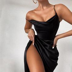 Satin Dresses, Ball Dresses, Elegant Dresses, Pretty Dresses, Sexy Dresses, Beautiful Dresses, Fashion Dresses, Party Dresses For Women, Night Out Dresses