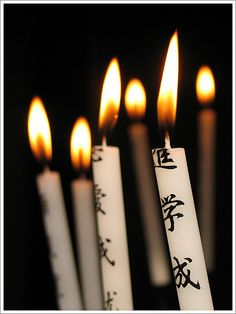 Prayer candles   ------- #japan #japanese
