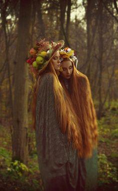 long hair sisters