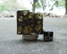 Brenham Pallasite Meteorite Slice - Translucent Gemmy Green Olivines, Slice, 9g - #Meteorite #Pallasite #Space #Astronomy #Gems