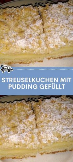 Streuselkuchen mit Pudding gefüllt – Die Küche Sweet Recipes, Cake Recipes, Pudding Ingredients, Gateaux Cake, Flaky Pastry, Pudding Cake, Food Cakes, No Bake Cake, Bakery