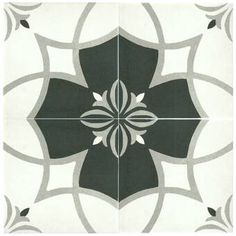 Merola Tile Twenties Crest Encaustic 7 3 4 In X 7 3 4 In Ceramic Floor And Wall Tile Frc8twcs