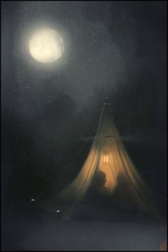 ☆ In the Moonlight.。Evening mood :¦: By Artist Alexandra Khitrova ☆
