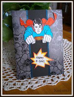 ♥ ♠ Kudottua ♦ ♣ : Onnea miehekkeelle! / birthdaycard for a man
