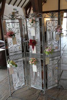 Afternoon Tea inspired Wedding Floral Seating Plan
