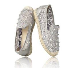 #Shoes -  Alesandra Espadrille Silver #WalkOnWaterBoutiques #Savi
