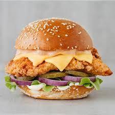Chicken Burger Chicken Burgers Burger Deep Fried Fish